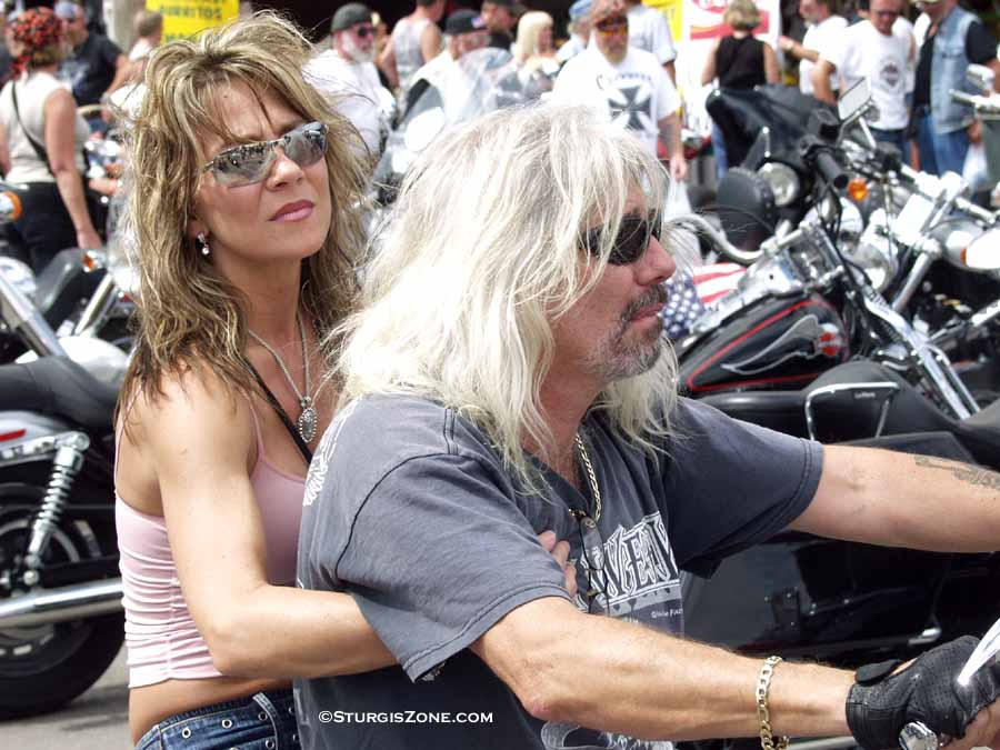 Tanktops for bikers. well-known movie stars at the big one - the