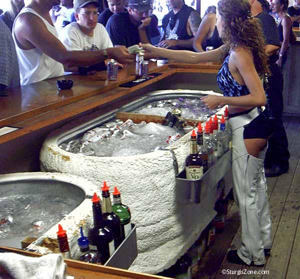 Sturgis barmaid