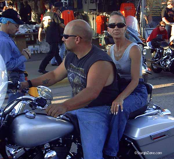 Sturgis biking couple