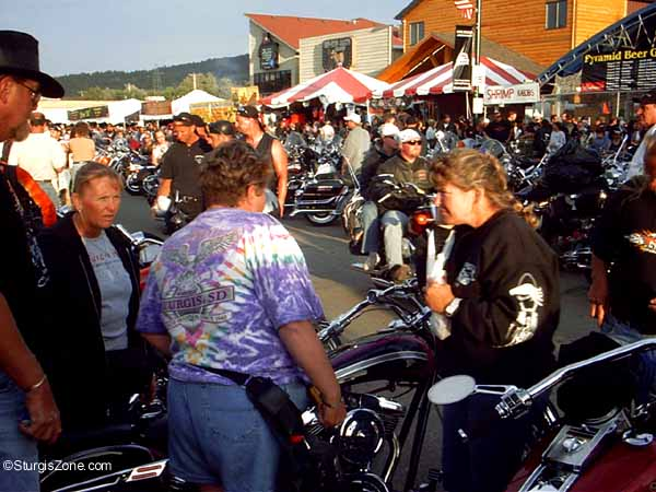 Sturgis Rally women yakking