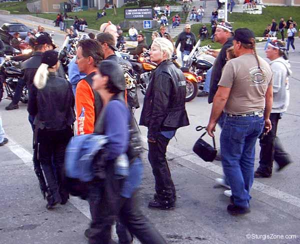 Sturgis Rally walking