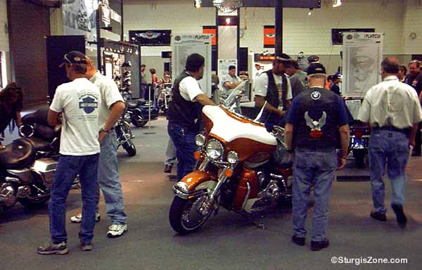 Observing Sturgis bikes at the Civic Center