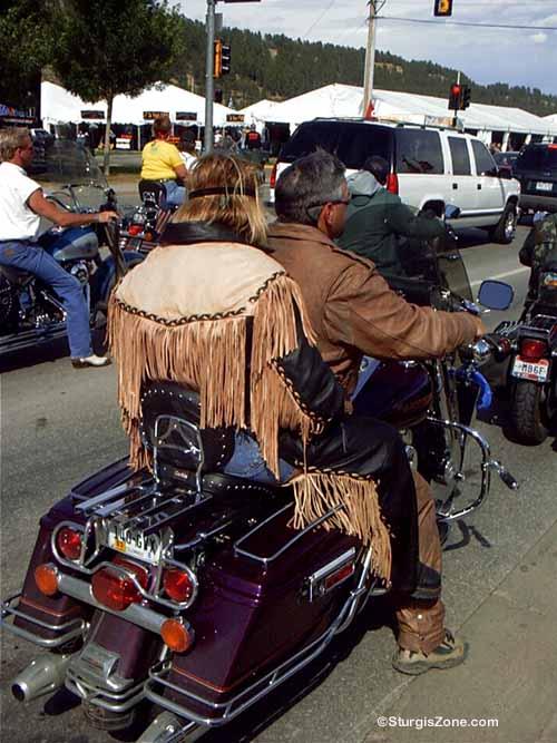 Sturgis Rally leather woman