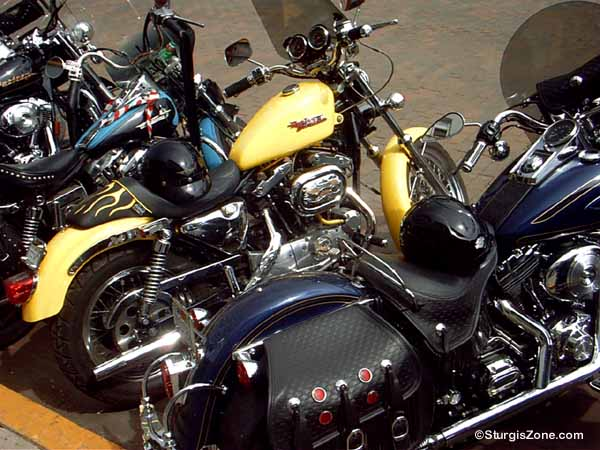 Sturgis Rally Harley Davidson motorcycles