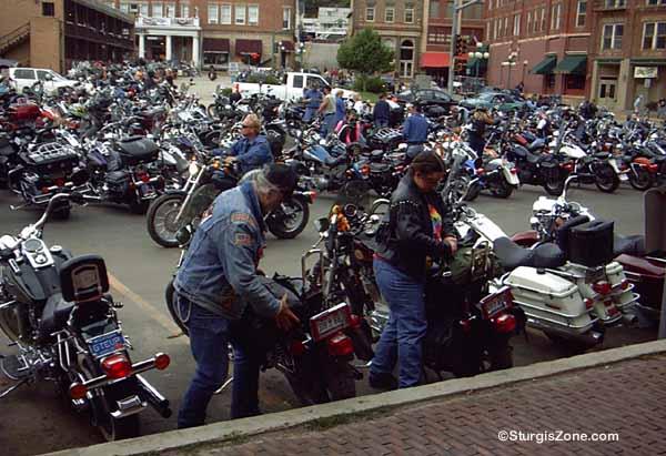 Checking Deadwood Harleys