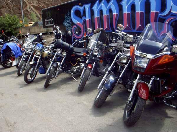 Sturgis bikes at Deadwood