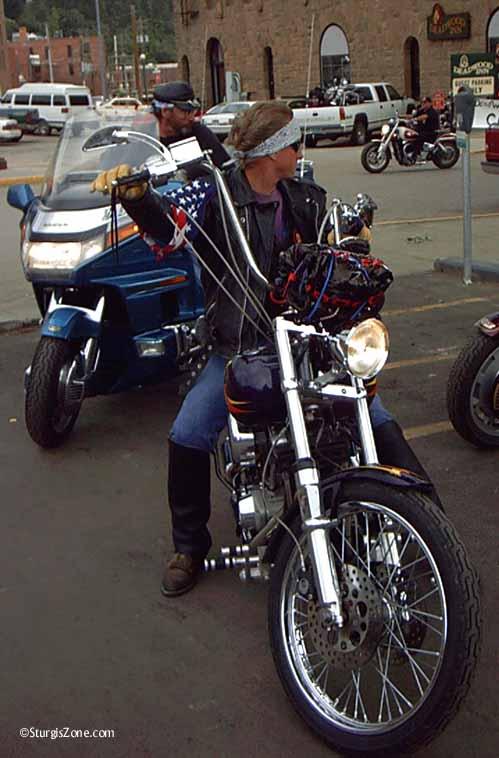parking the Harley in Deadwood