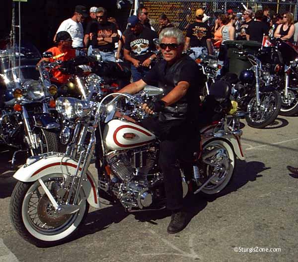 gray Sturgis biker