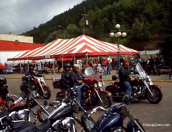 Big tent in Deadwood at Sturgis Rally