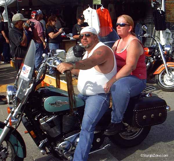 Sturgis bikers on bluegreen
