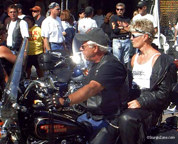 Shedding clothes in the Sturgis heat
