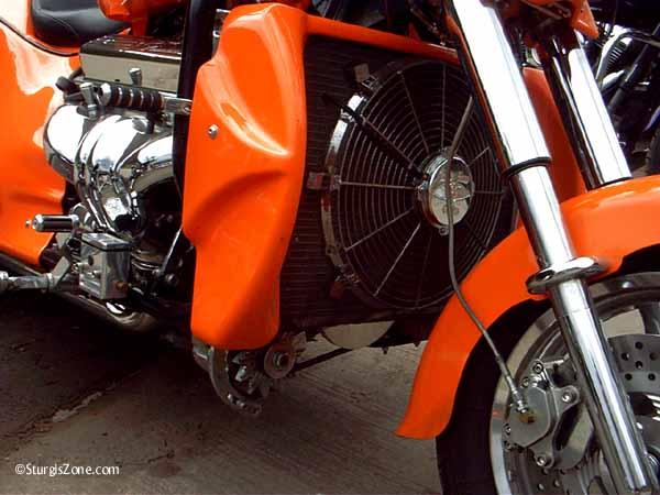 Sturgis Rally orange bike